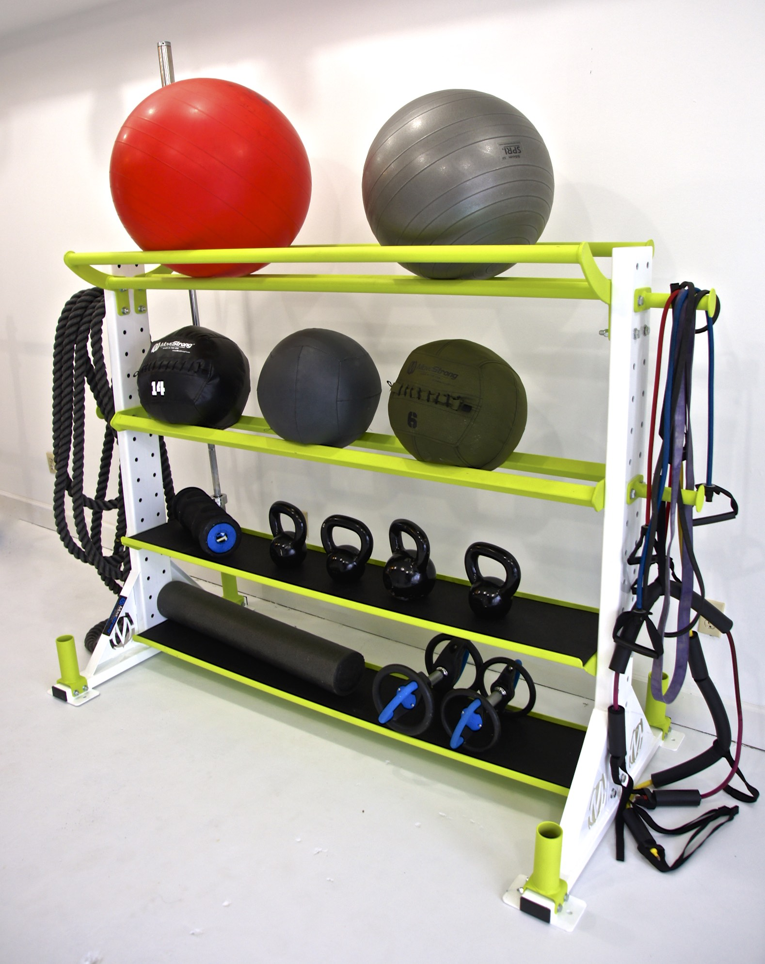 Stability Ball Holder tray on top