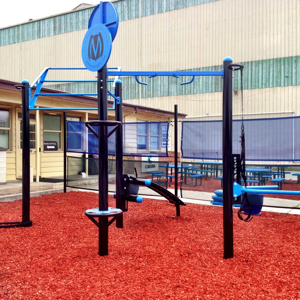outdoor company gym for employees