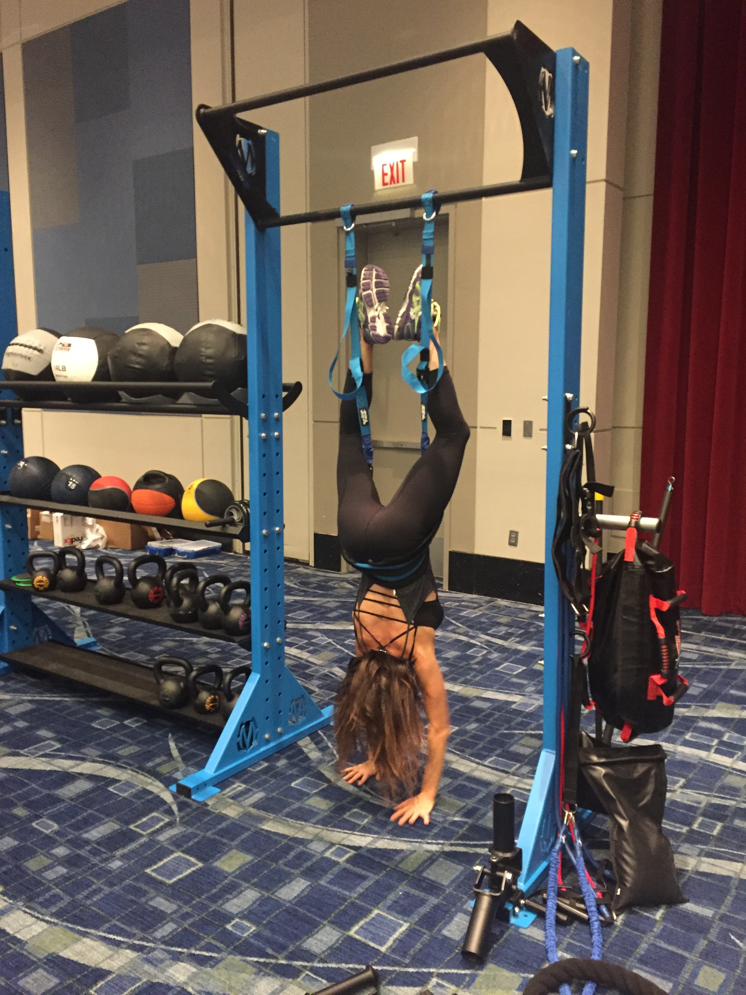 Inversion back hang exercise