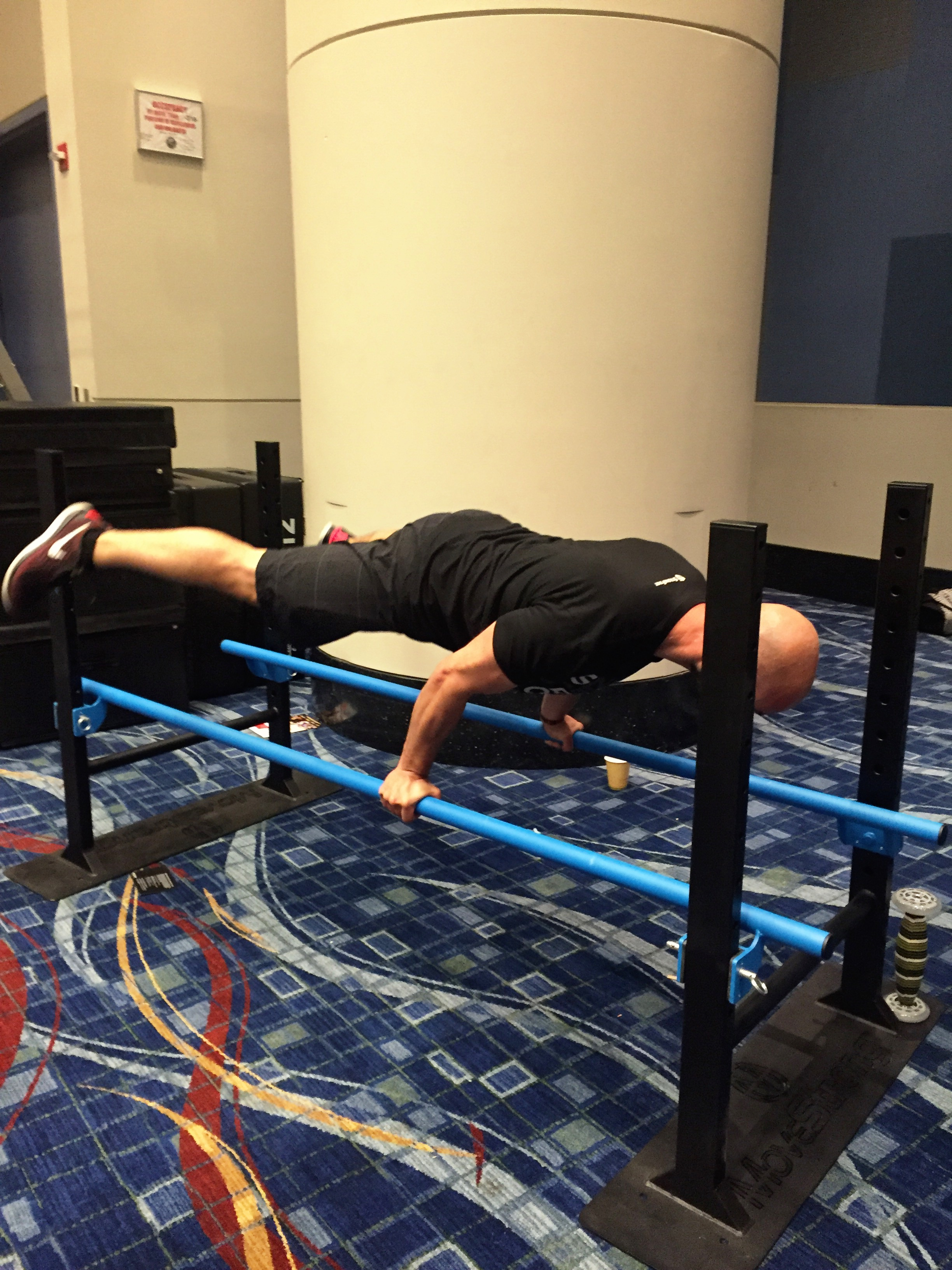 Parallel bars bodyweight strength
