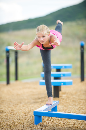 Zig Zag Balance Beam   two different lengths