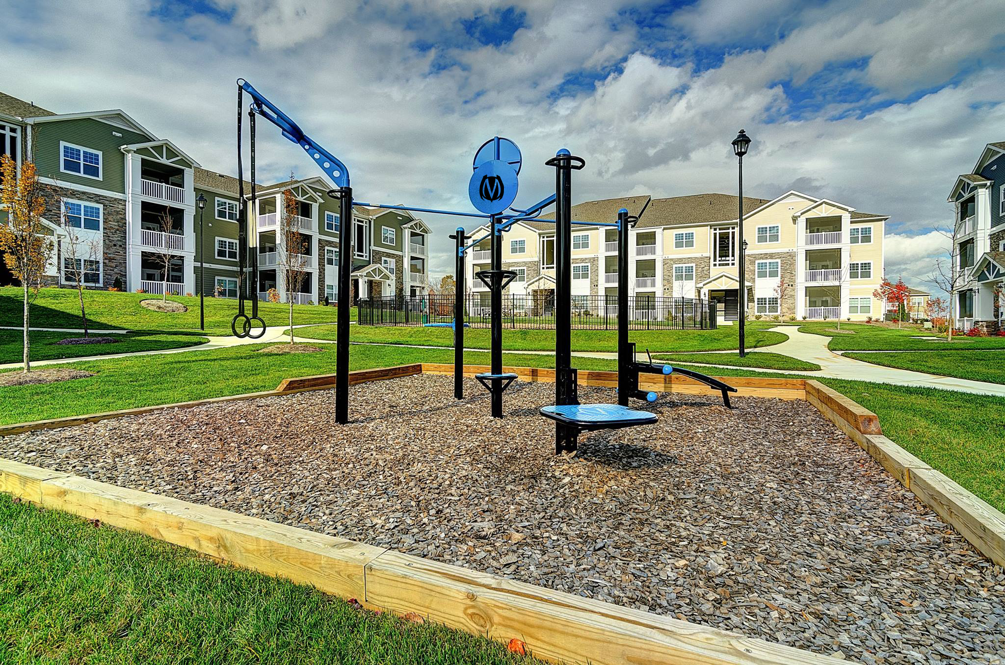 Community living outdoor fitness TRex MoveStrong