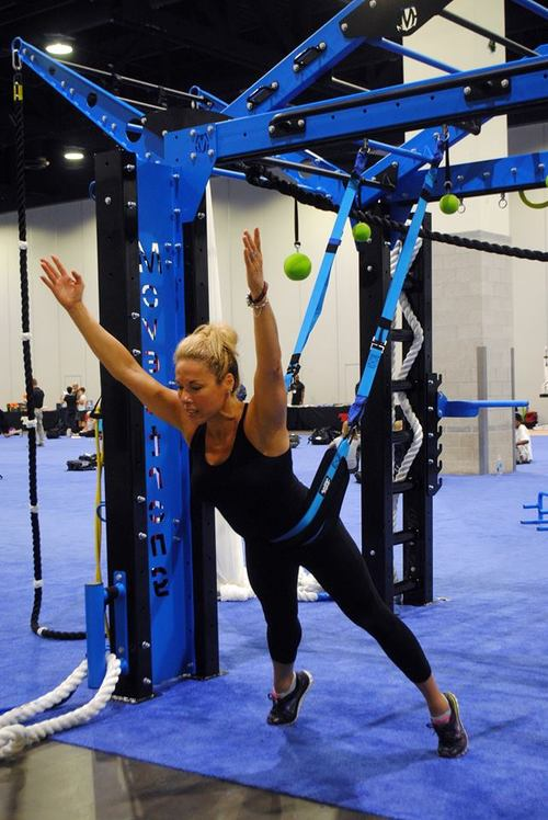 Overhead exercise modalities for suspending fitness tools