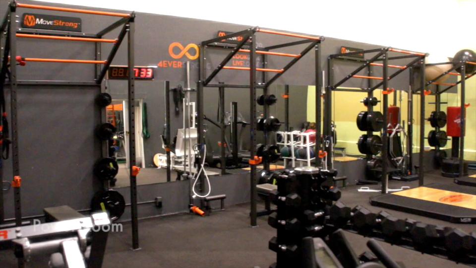 Wall mount fitness training racks