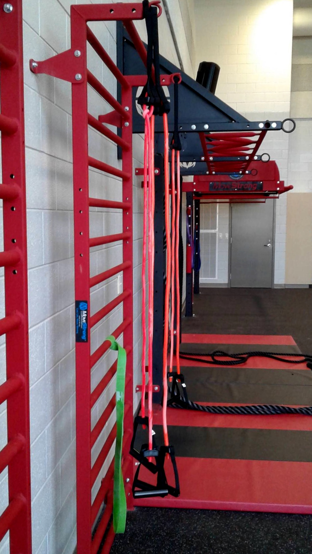 Stall Bars and resistance band stations
