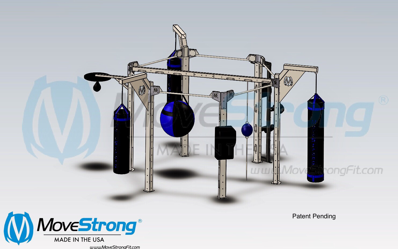 Kickboxing boxing rack