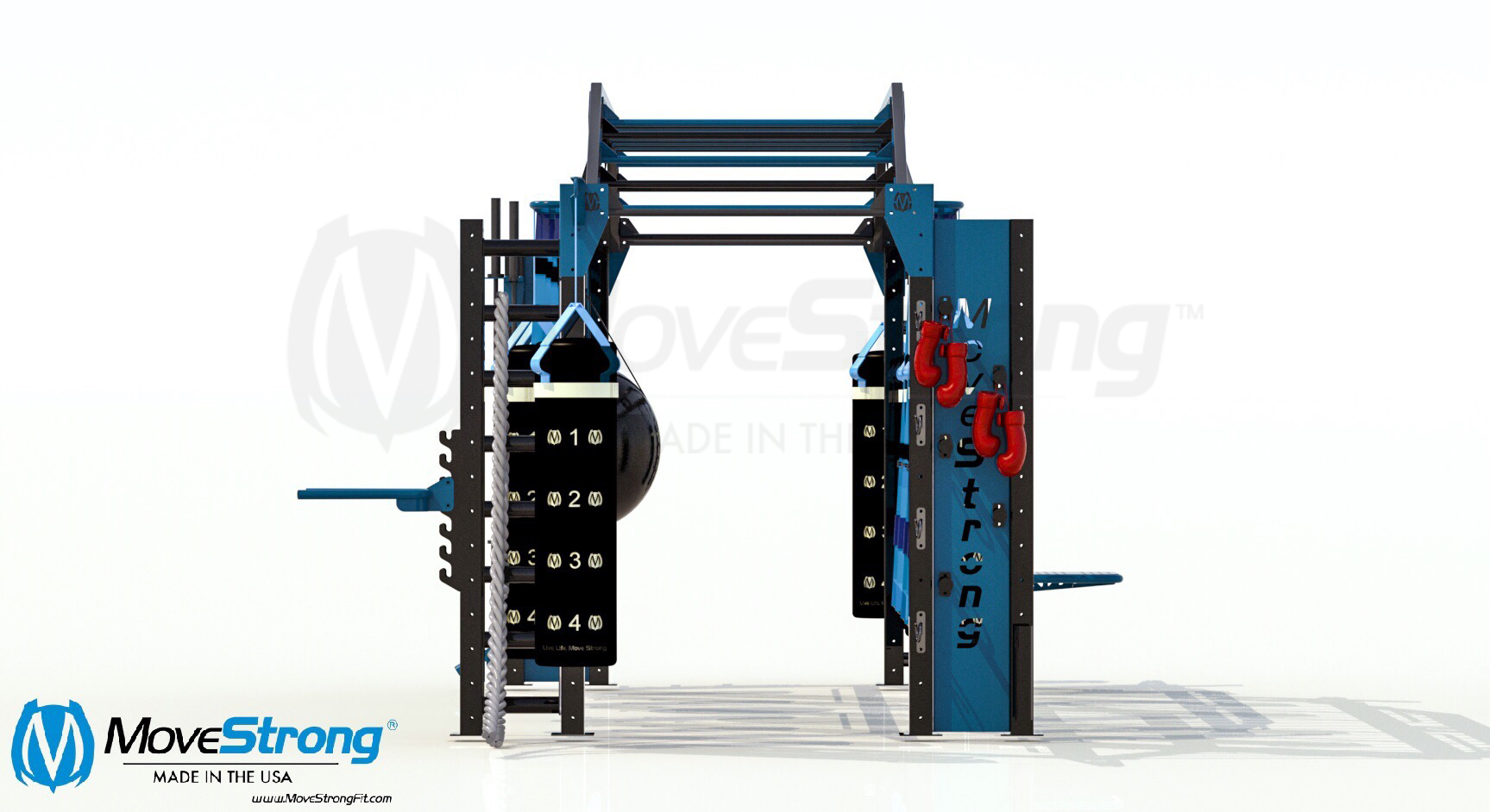 Functional training heavy boxing bag rack