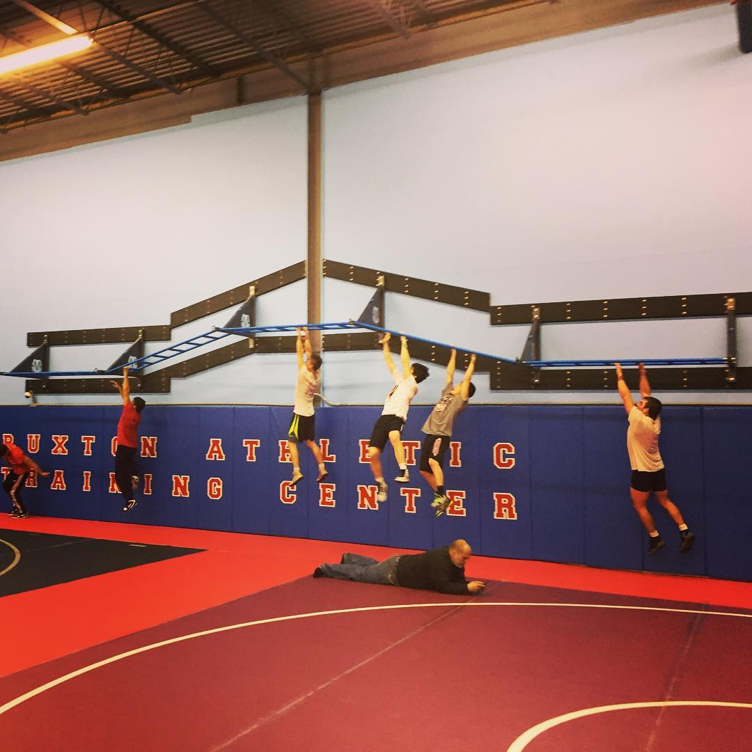 Wrestling team training