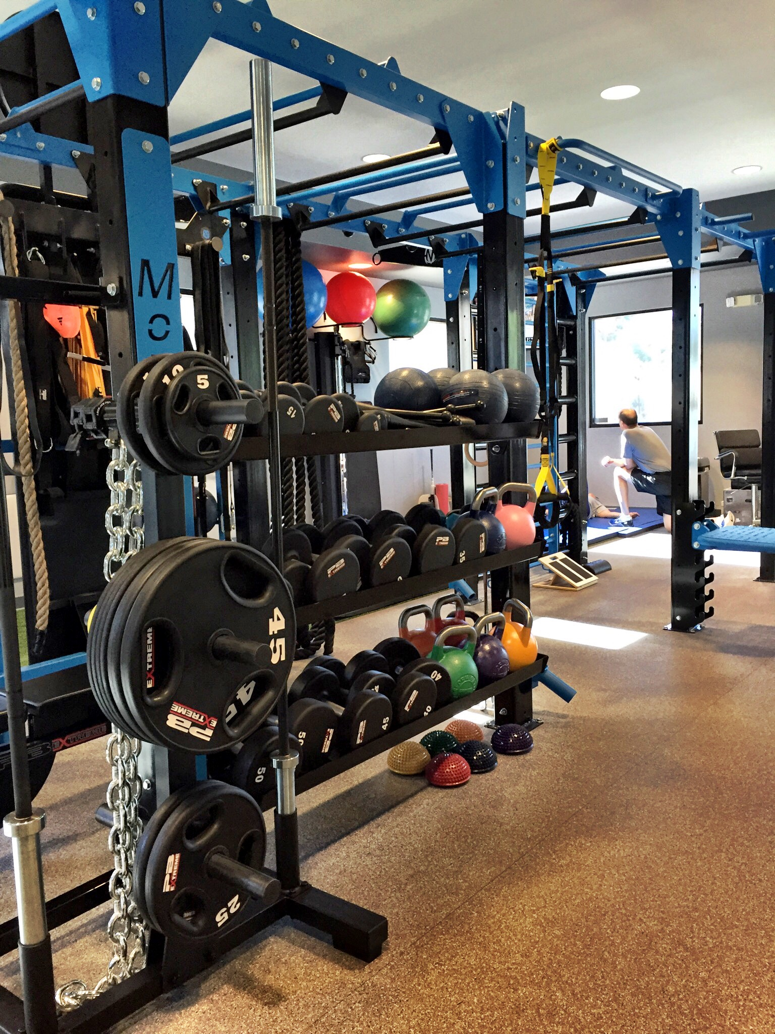 Fitness Accessory Storage integrated into FTS