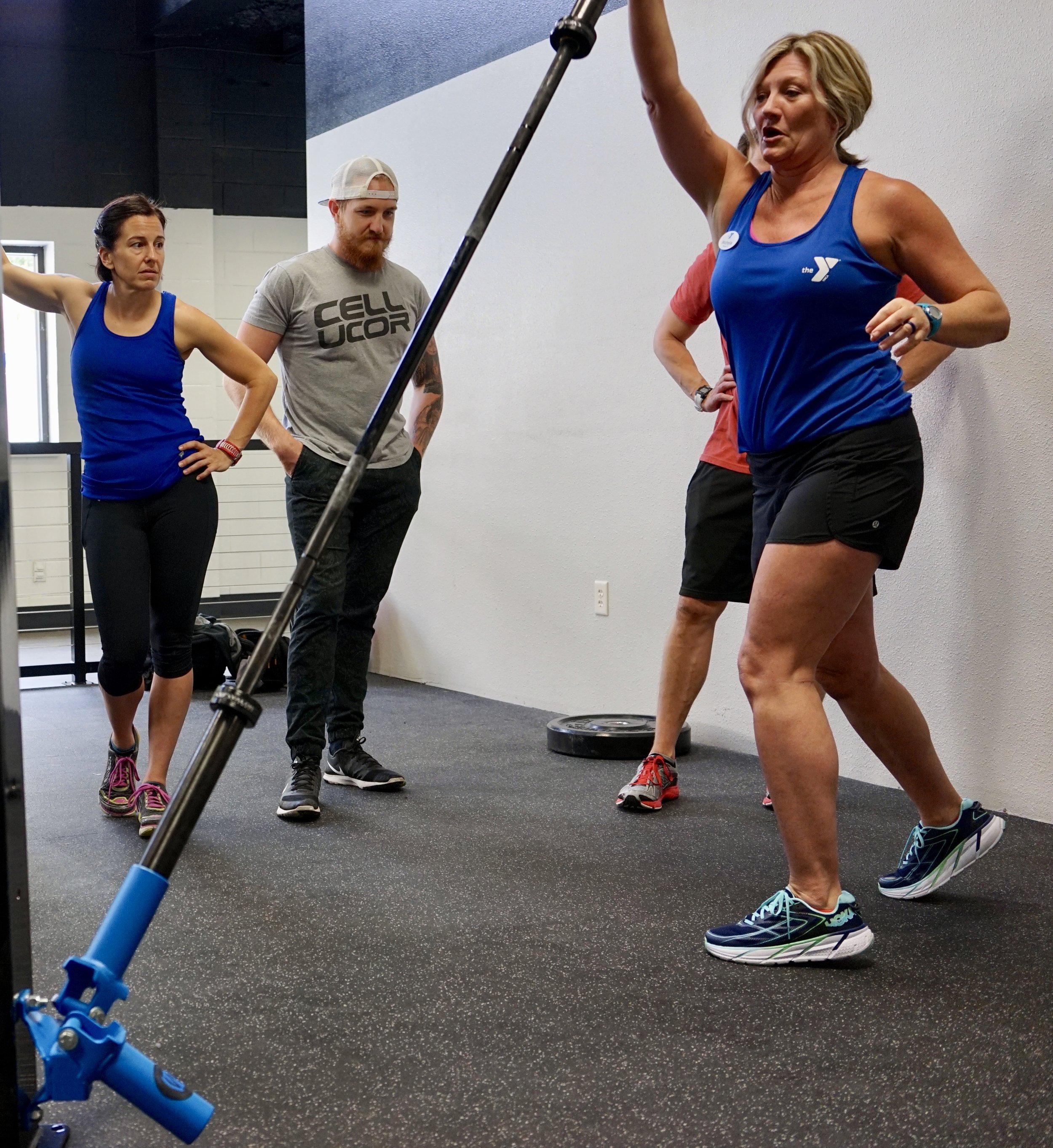 Ground Rotational Trainer push press