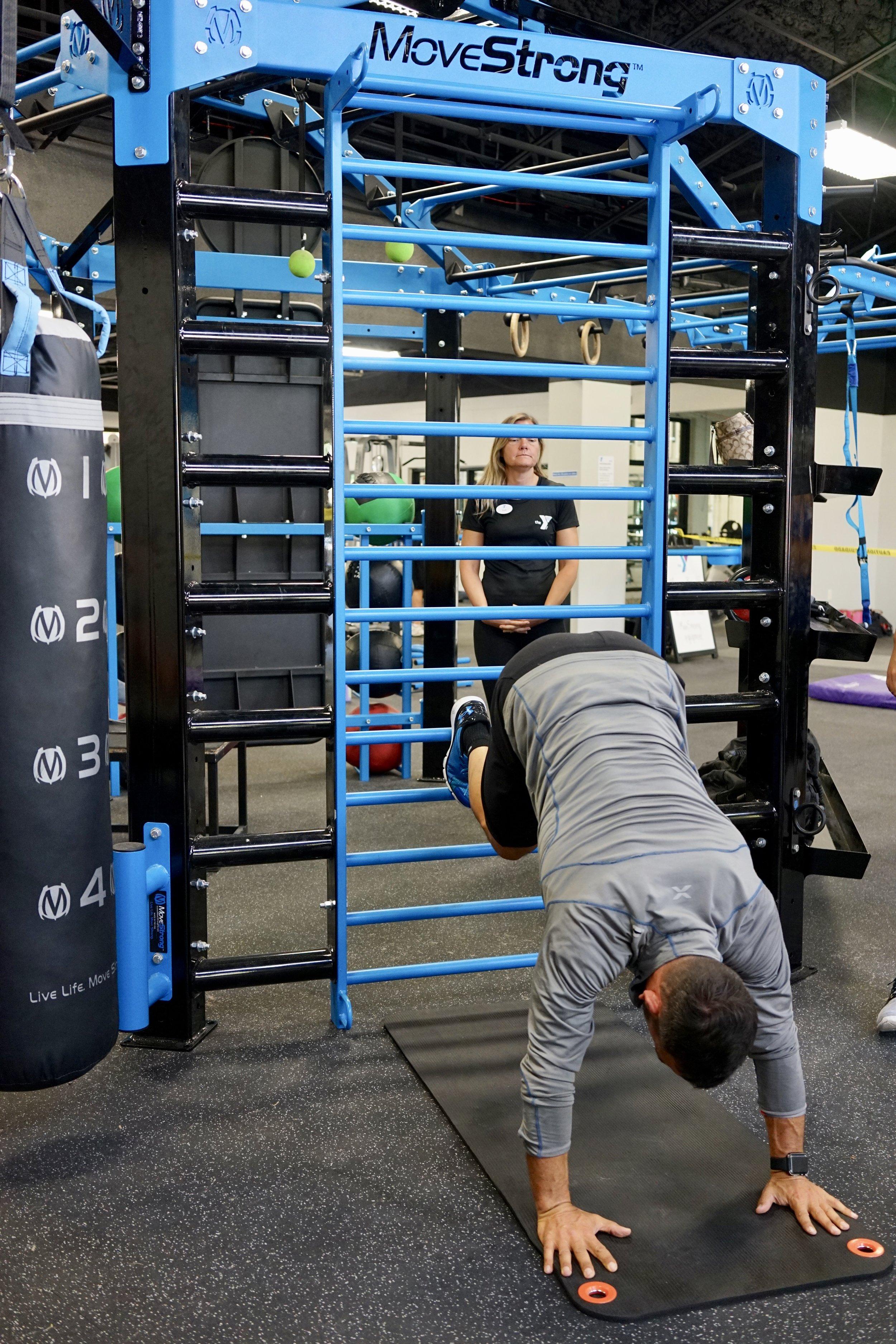 Stall bars hand stand training