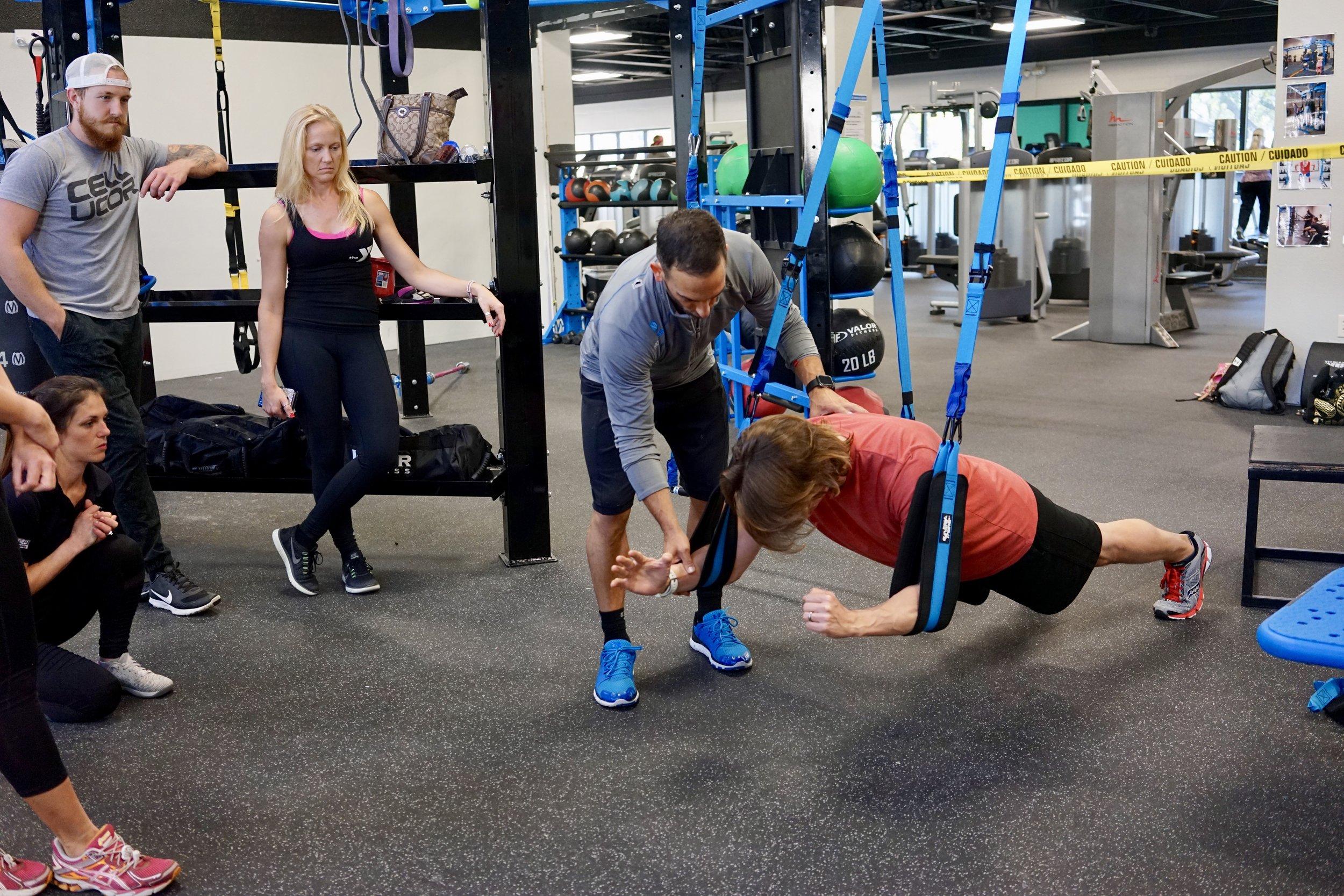 Elevate Trainer suspended planks