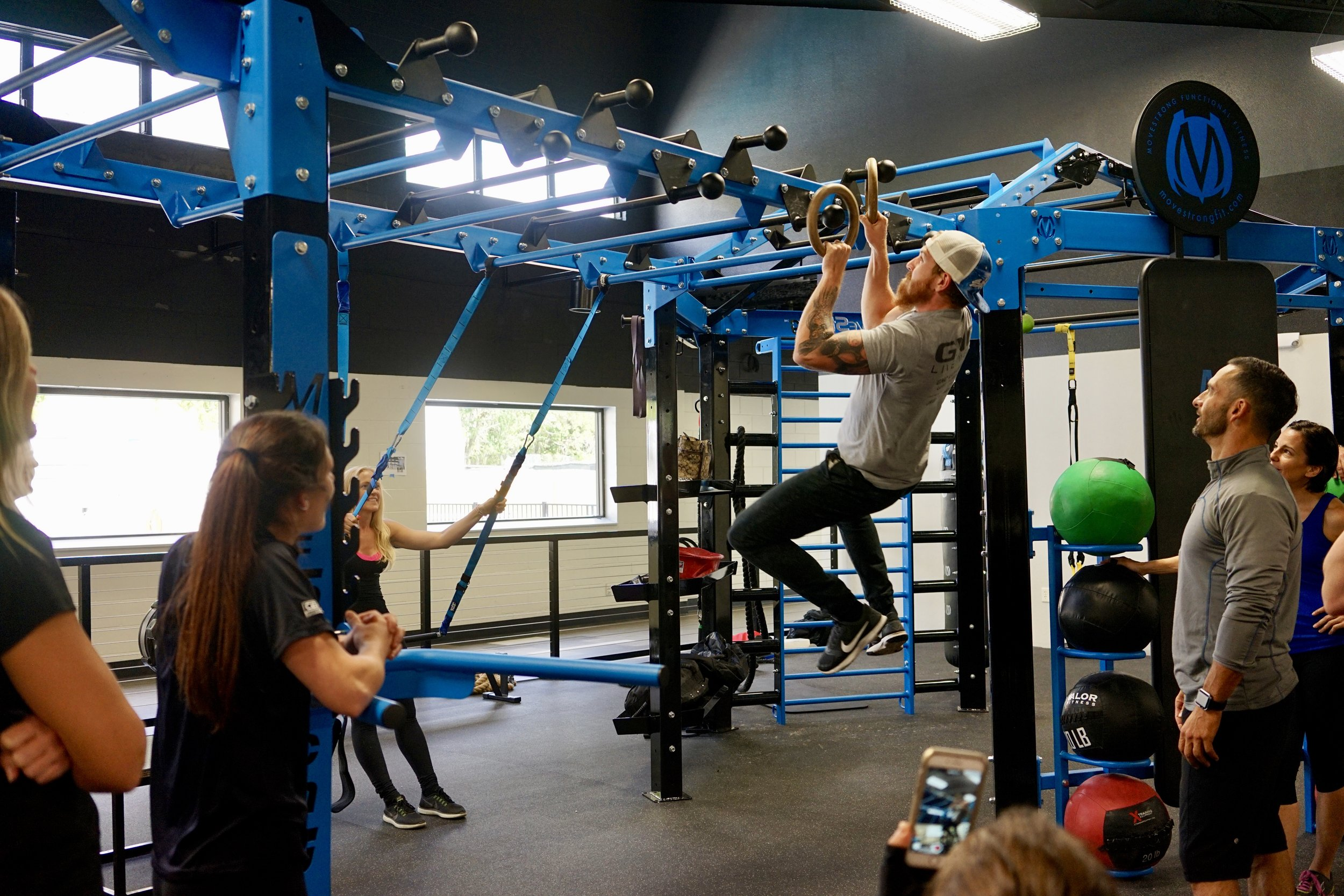 Ring Toss Ninja Warrior exercise