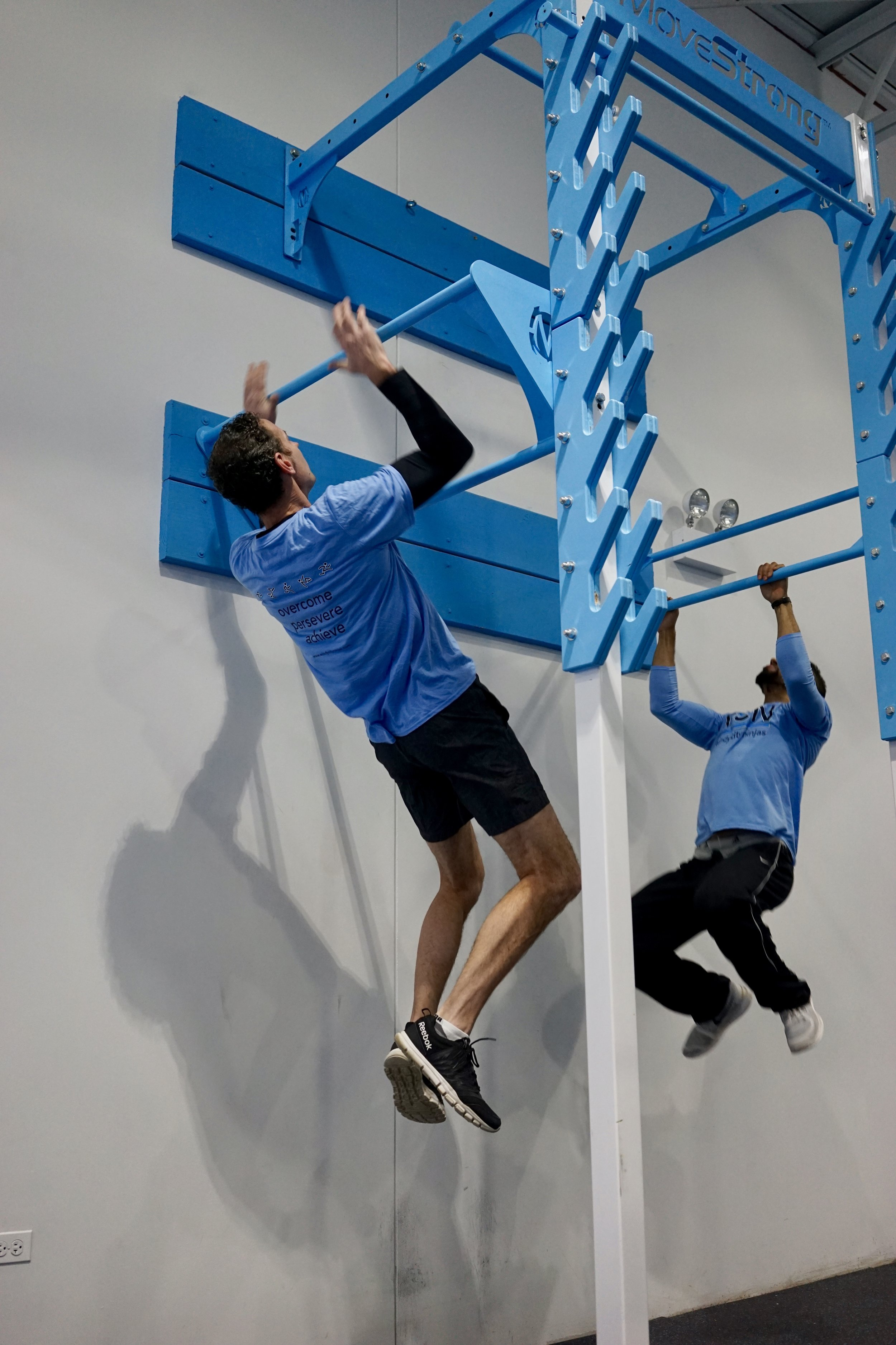 Dual height pull-up bars
