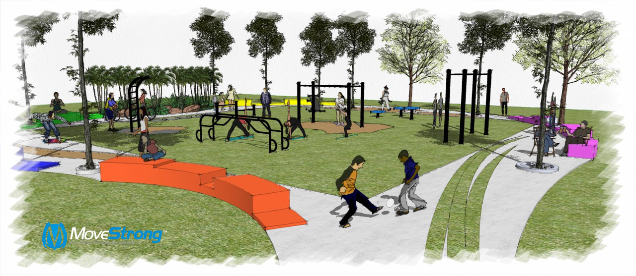 Outdoor MoveStrong area
