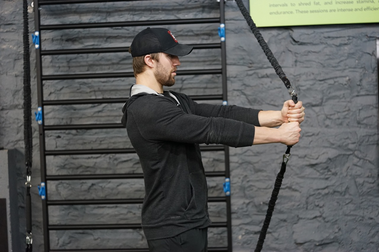 Two-handed grip exercises