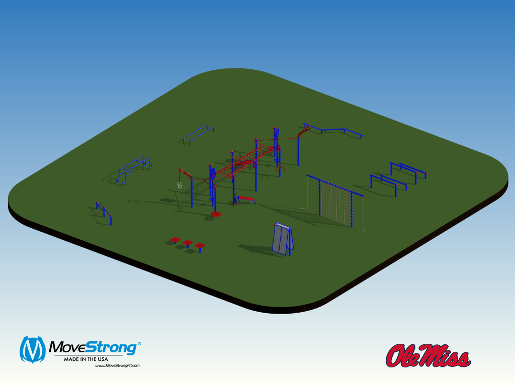 Design and Layout for outdoor gym area