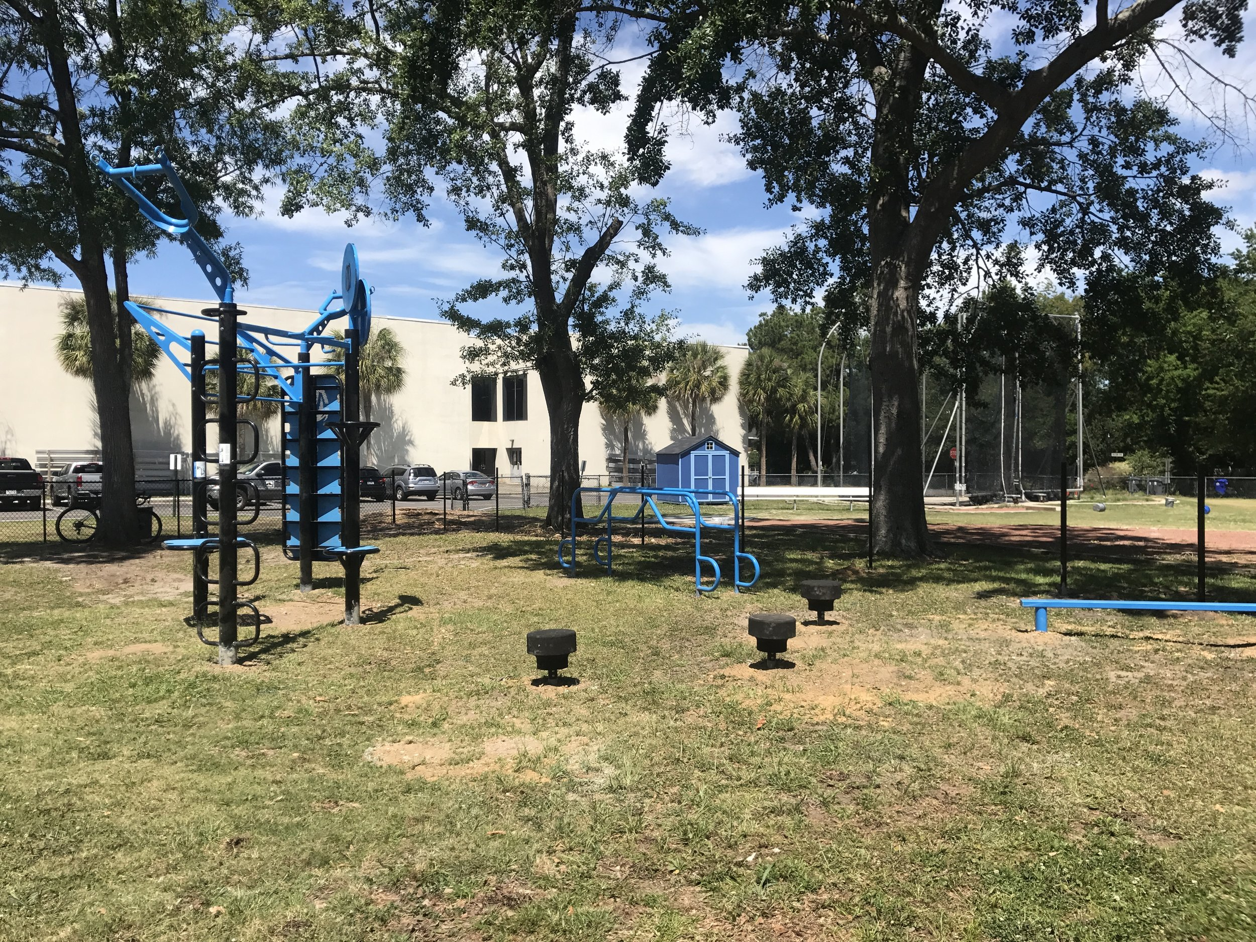 Outdoor Fitness area on Campus