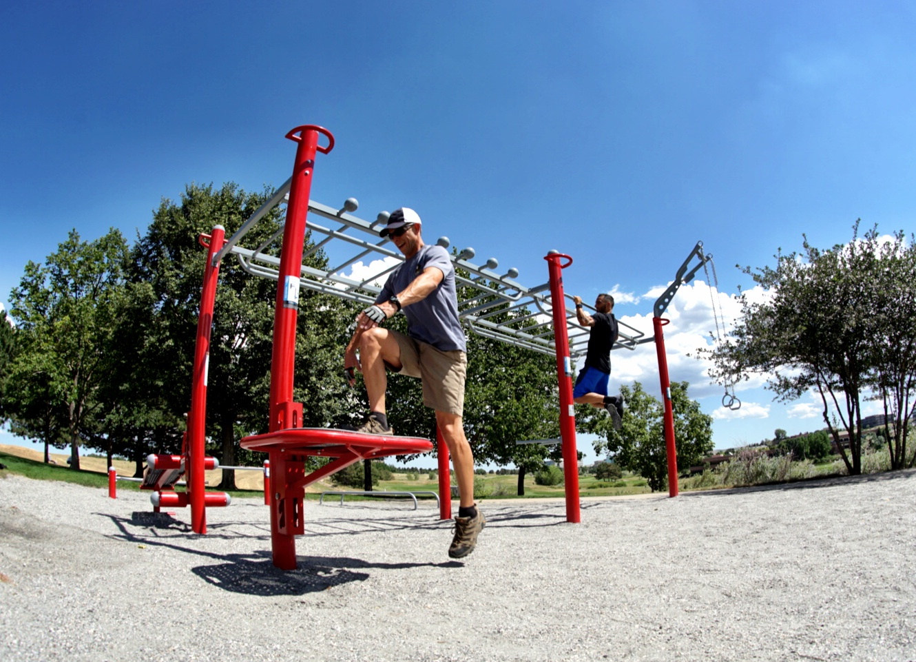 Group workouts outdoor