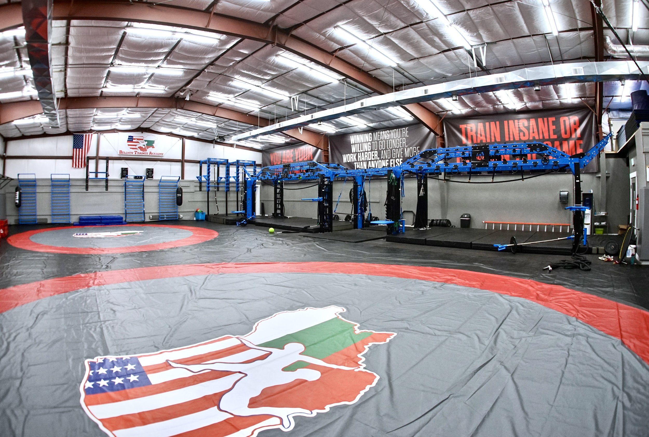 Wrestling training facility with MoveStrong