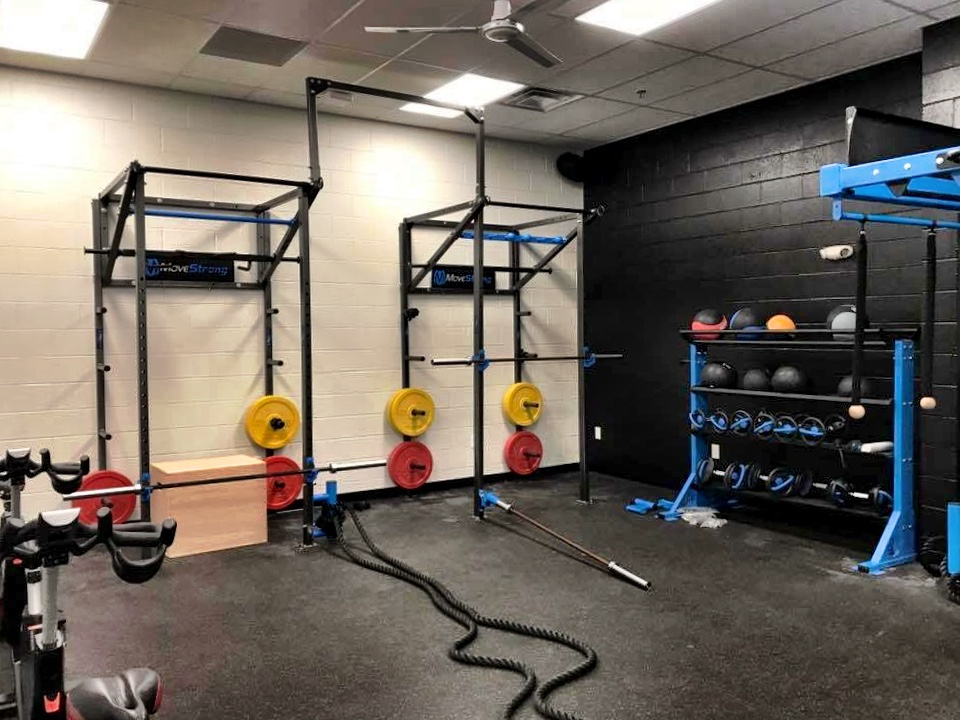 Squat rack wall mount station