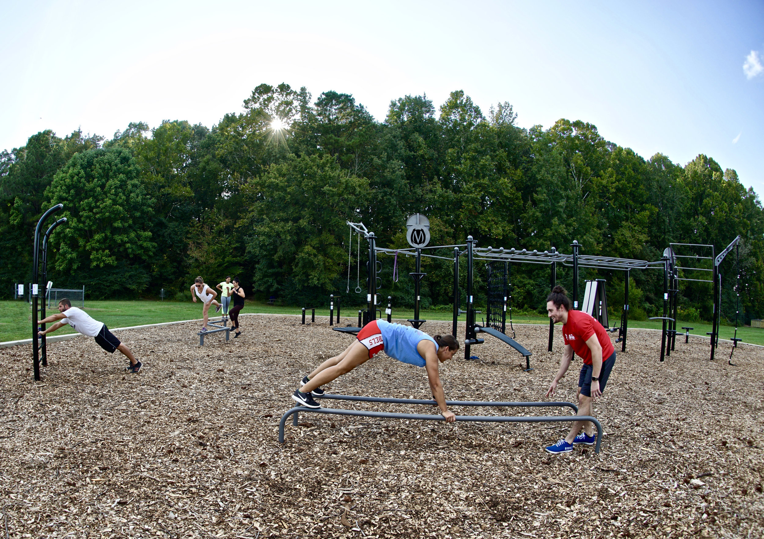 Group Outdoor Fitness Workout
