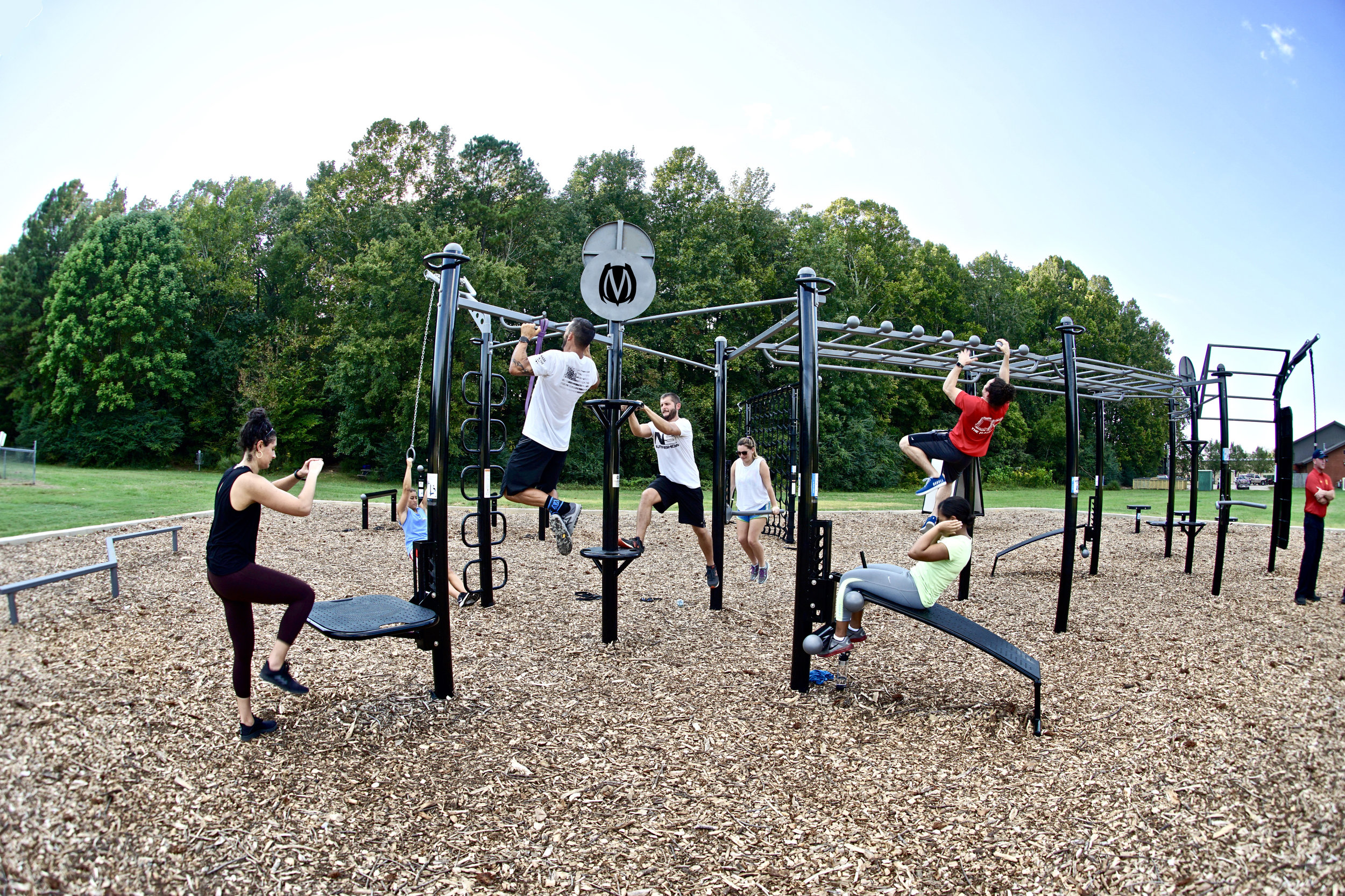 Outdoor Group Function Fitness Training