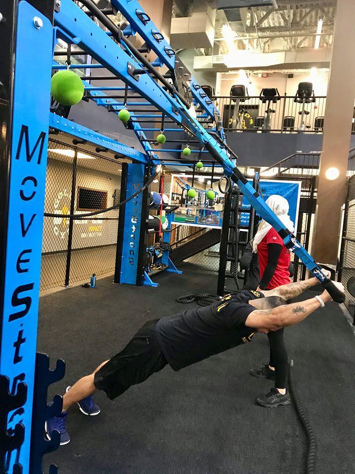 Elevate Trainer Bar plank reach