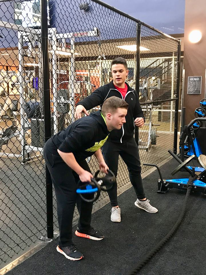DynaBell bent over row