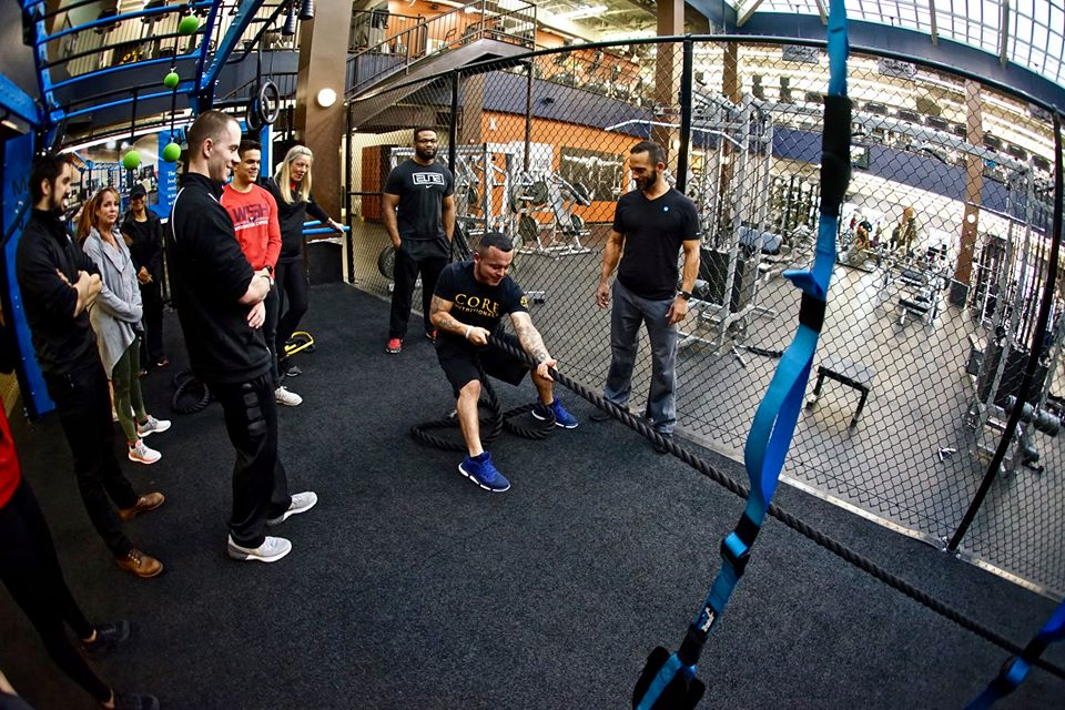 Power sled rope pull