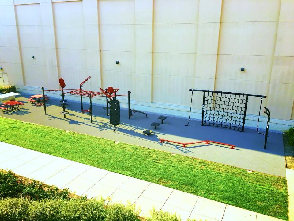 Santa Clara Outdoor fitness MoveStrong area