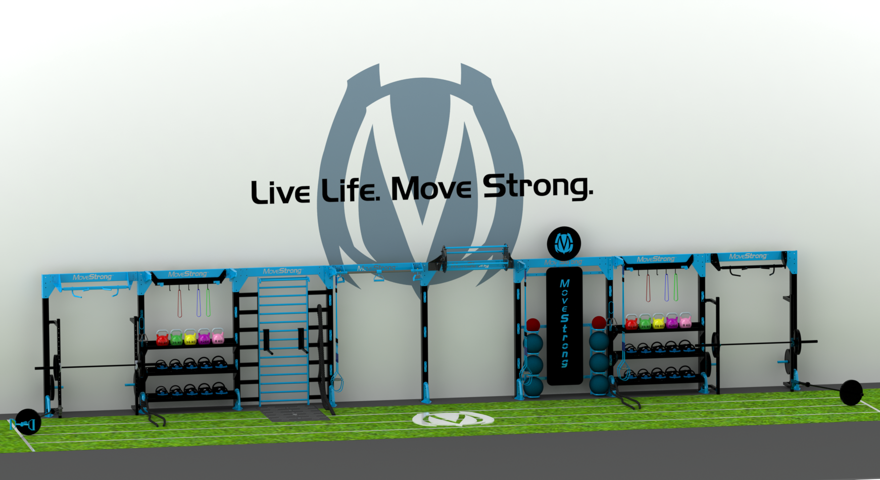 NOVA In-Line Functional Training Station