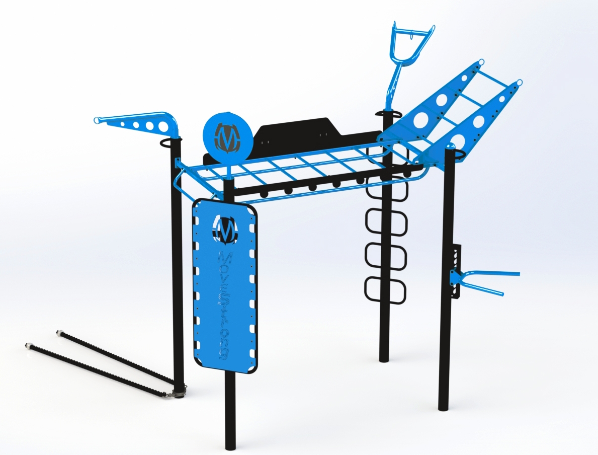 4-Post Monkey Bar Bridge with new training features