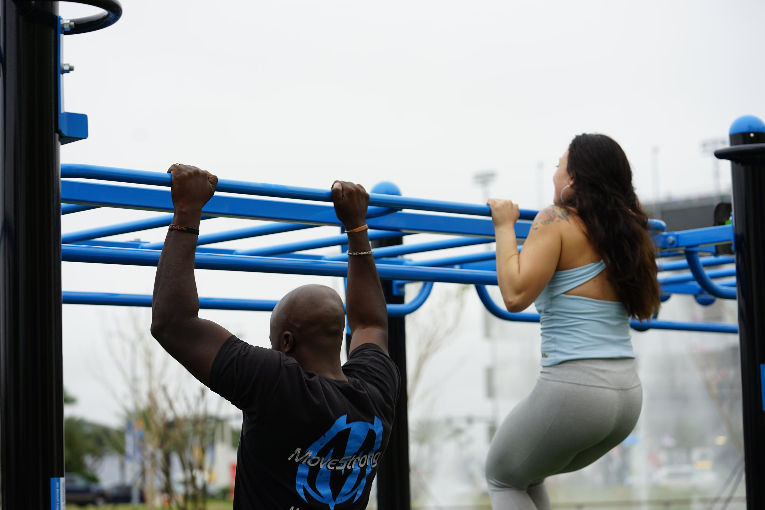 Double Monkey Bars with Side Rail Pull-up bars