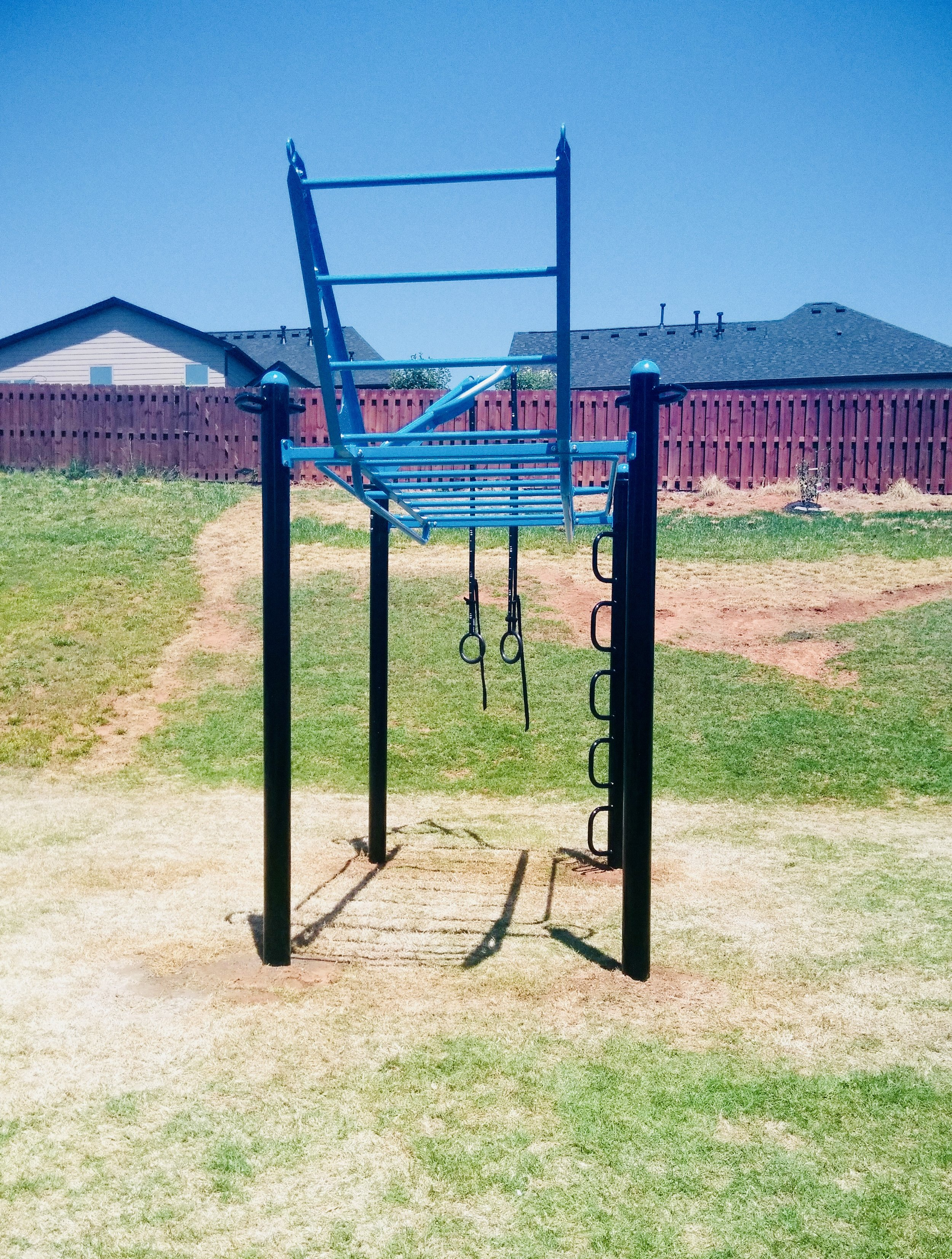 Backyard gym with MoveStrong