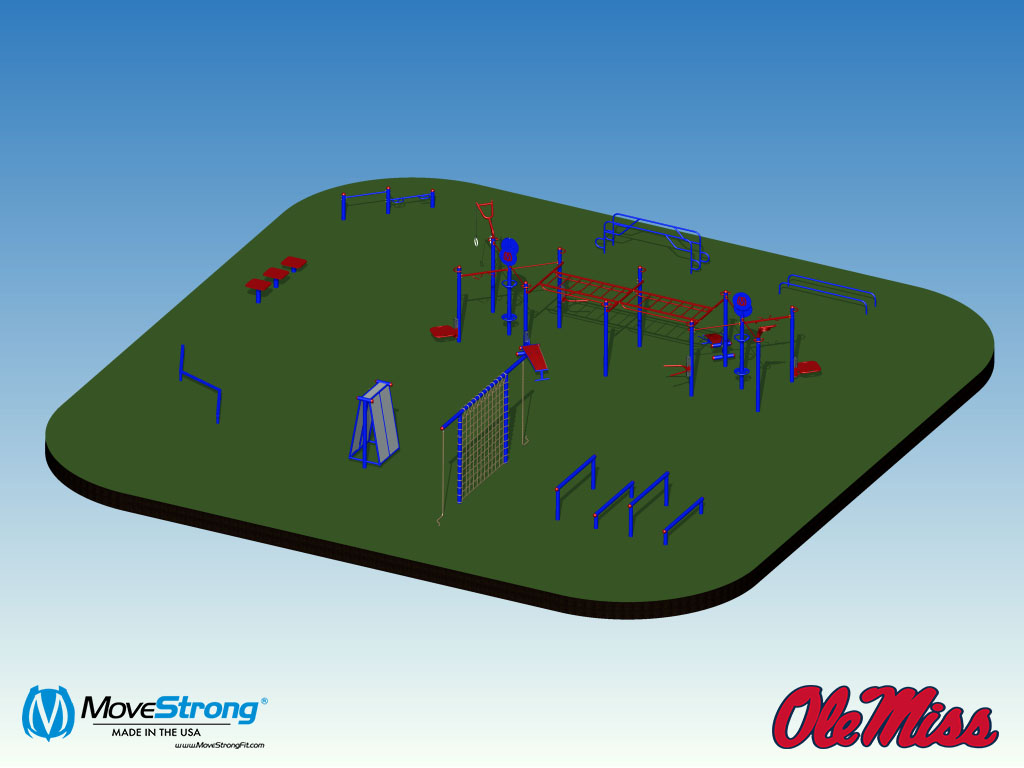 Ole Miss University recreation layout outdoor gym