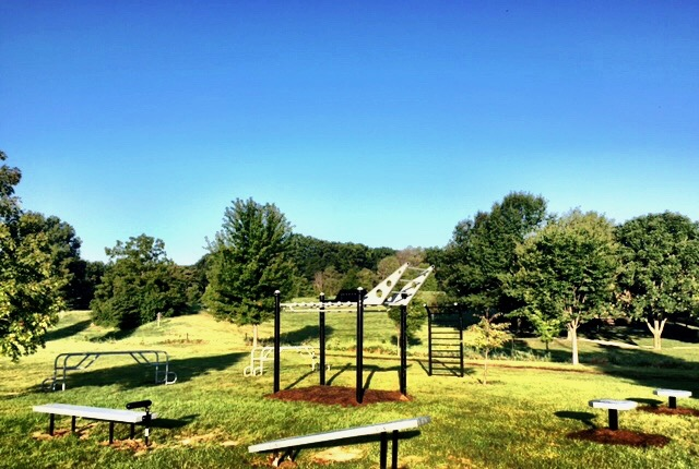 Outdoor Fitness Equipment Layout on Campus
