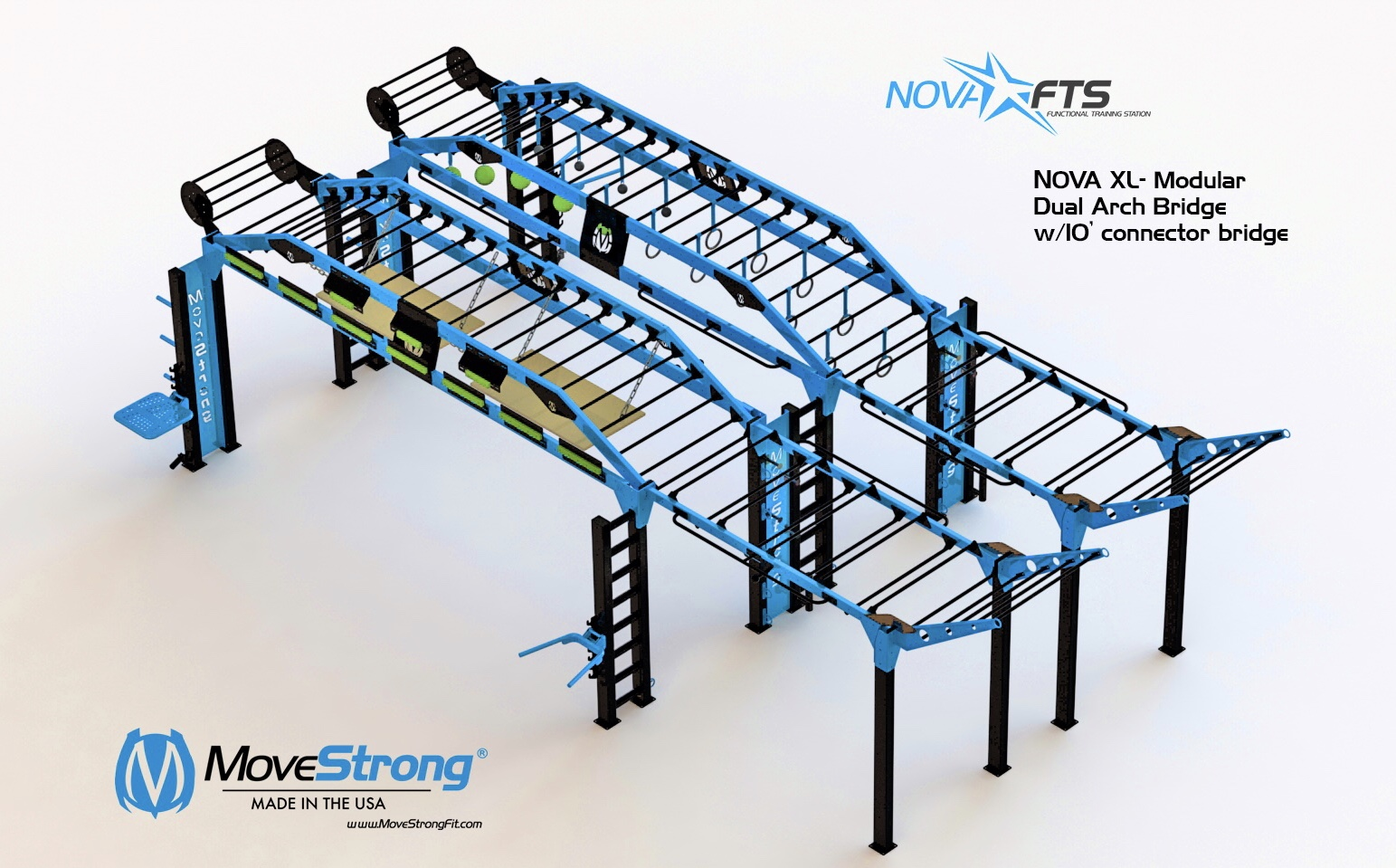 Obstacle Course and Ninja Warrior Training Rig