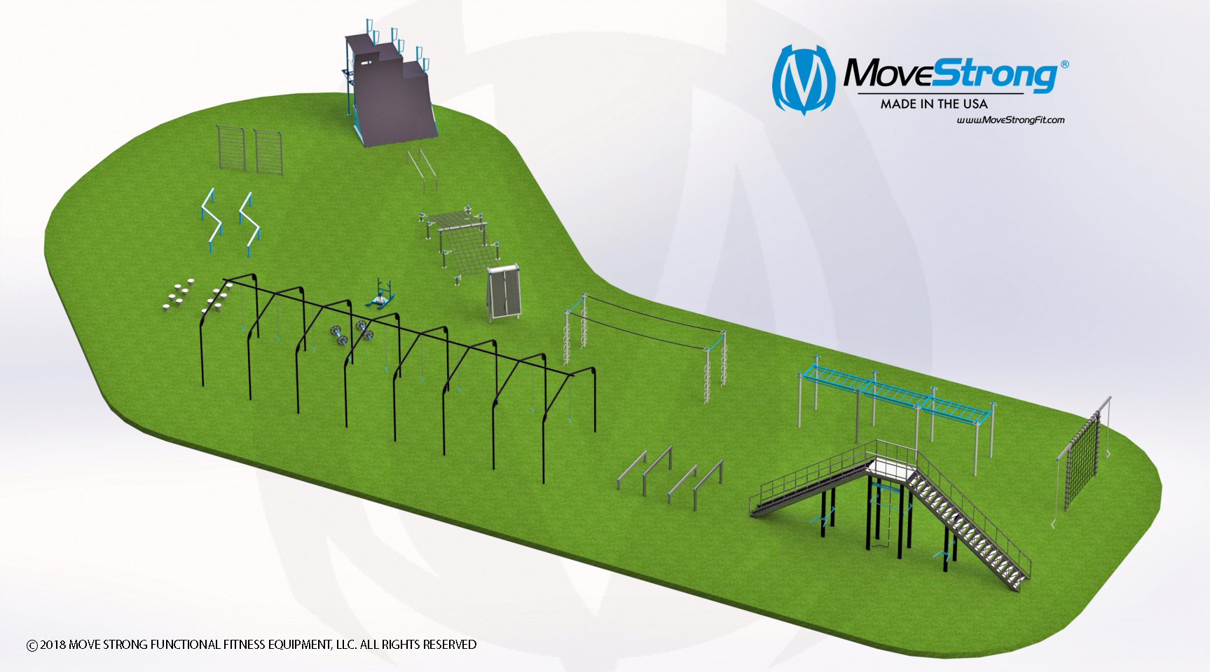 MoveStrong Obstacle Course Fitness Park
