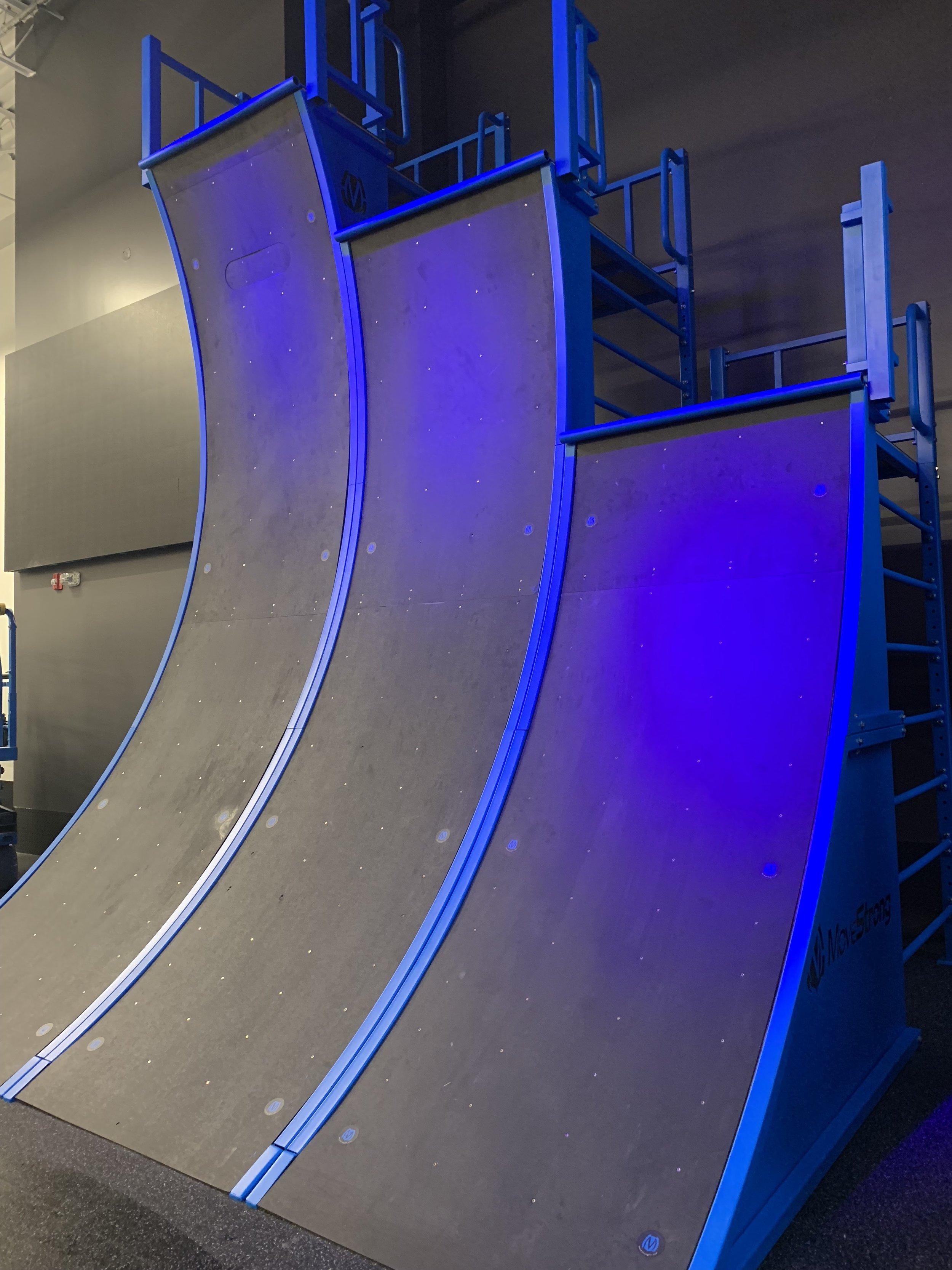 Ninja Gym Warped Wall Custom build