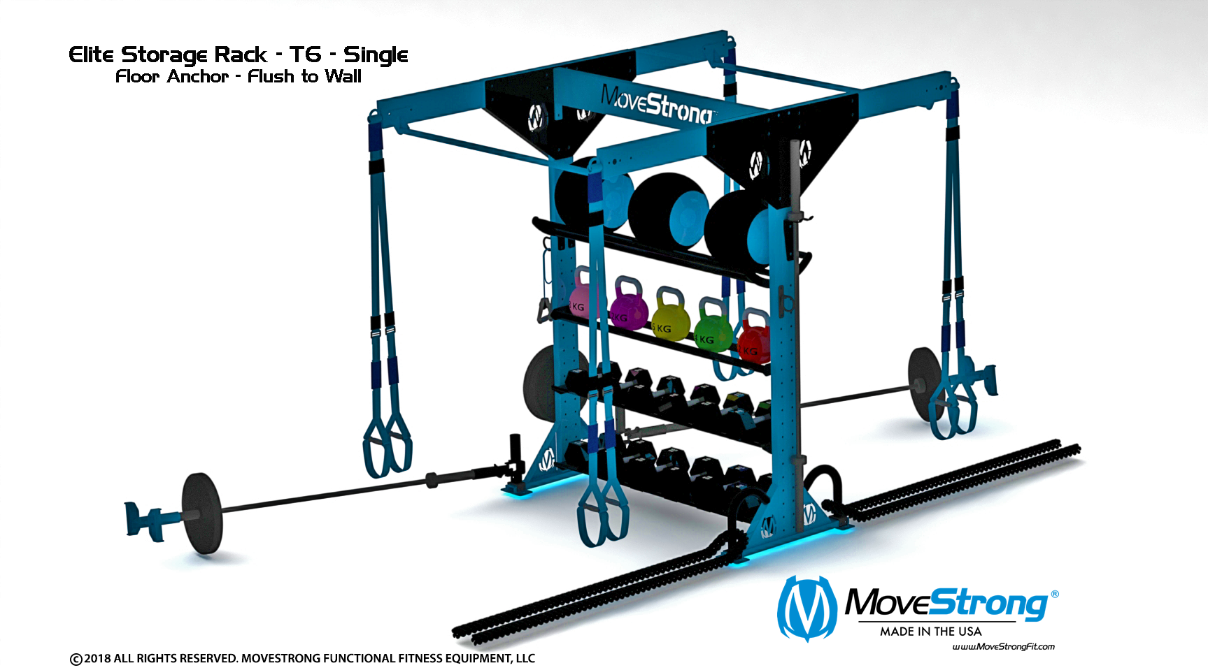 Functional Fitness Storage with Top mount Pull-up Bar Extenstions