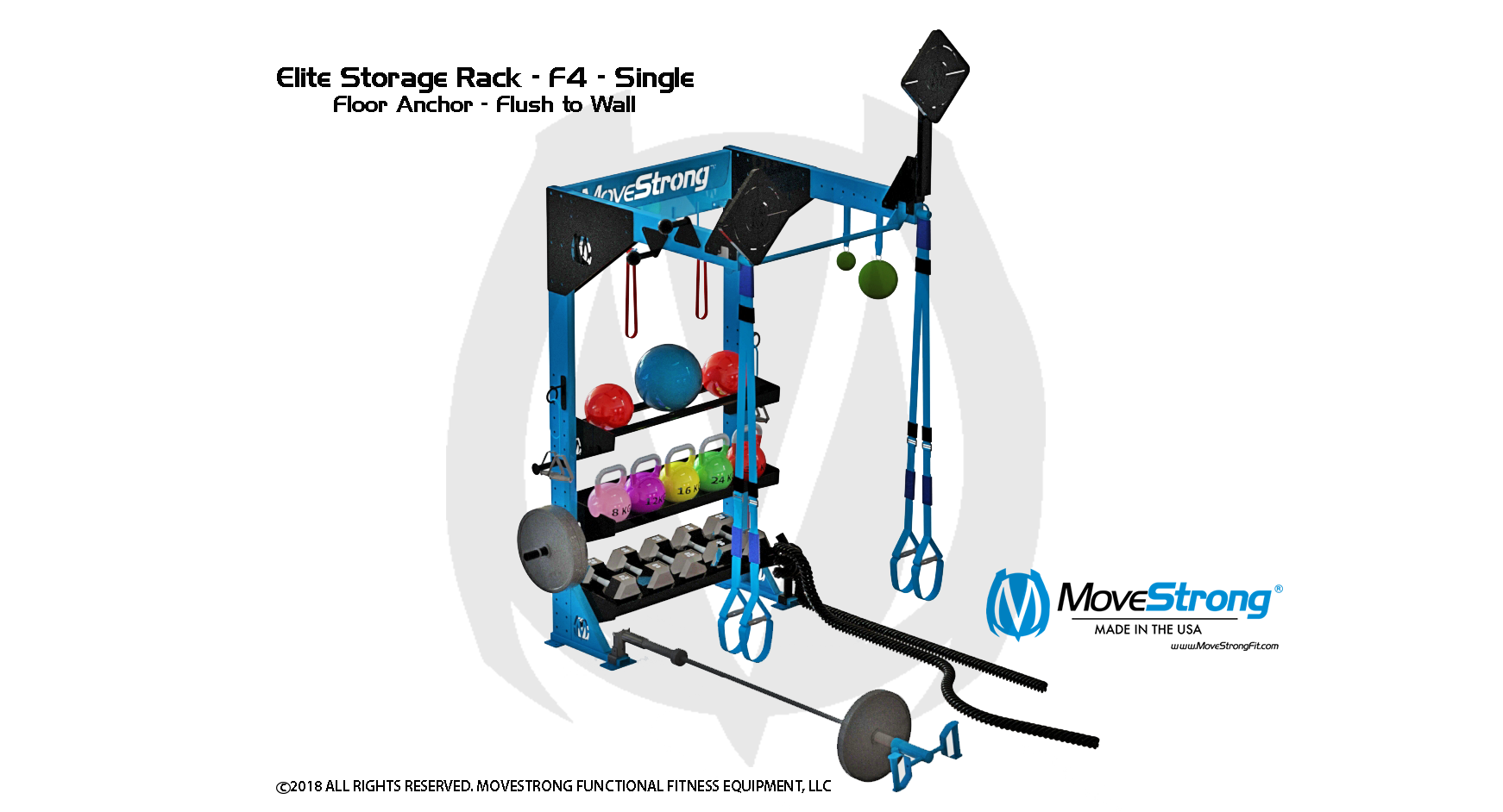 Gym studio design for functional fitness storage