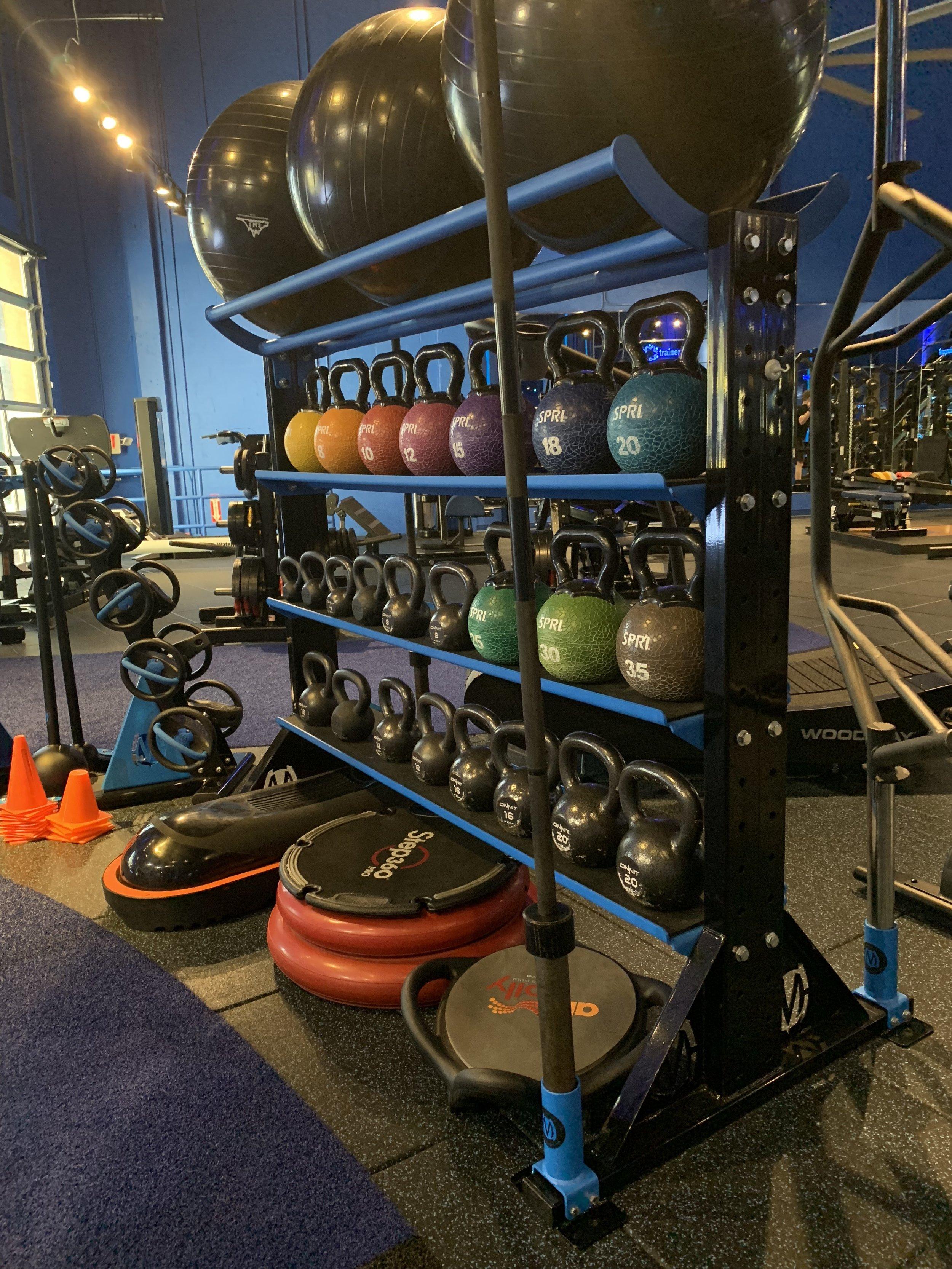Gym design storage rack custom made