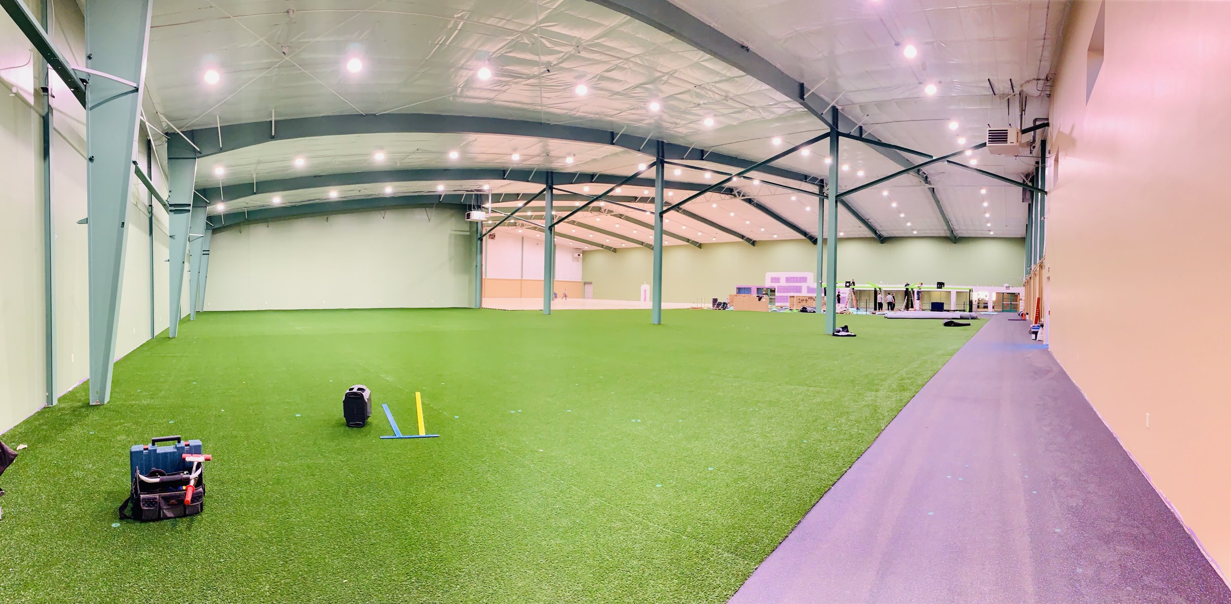MoveStrong artificial indoor turf install