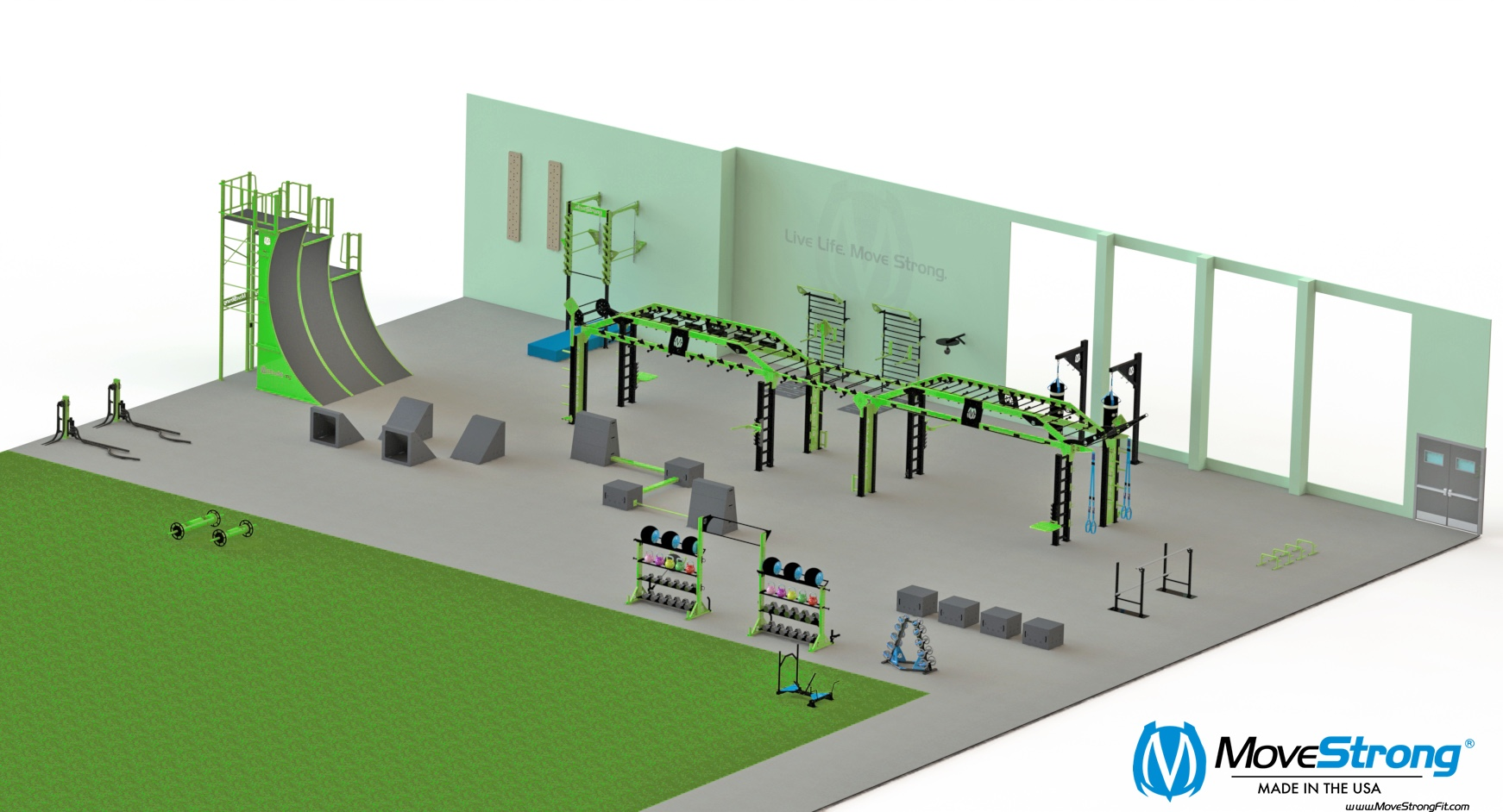 Parks and rec layout design functional fitness gym