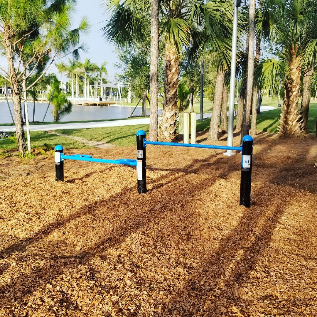Outdoor pushup bars