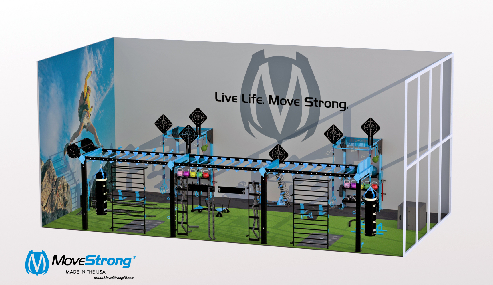 Wall Mount Fitness Equipment For Court