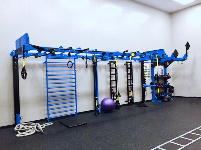 Group Fitness HIIT Training Equipment Layout