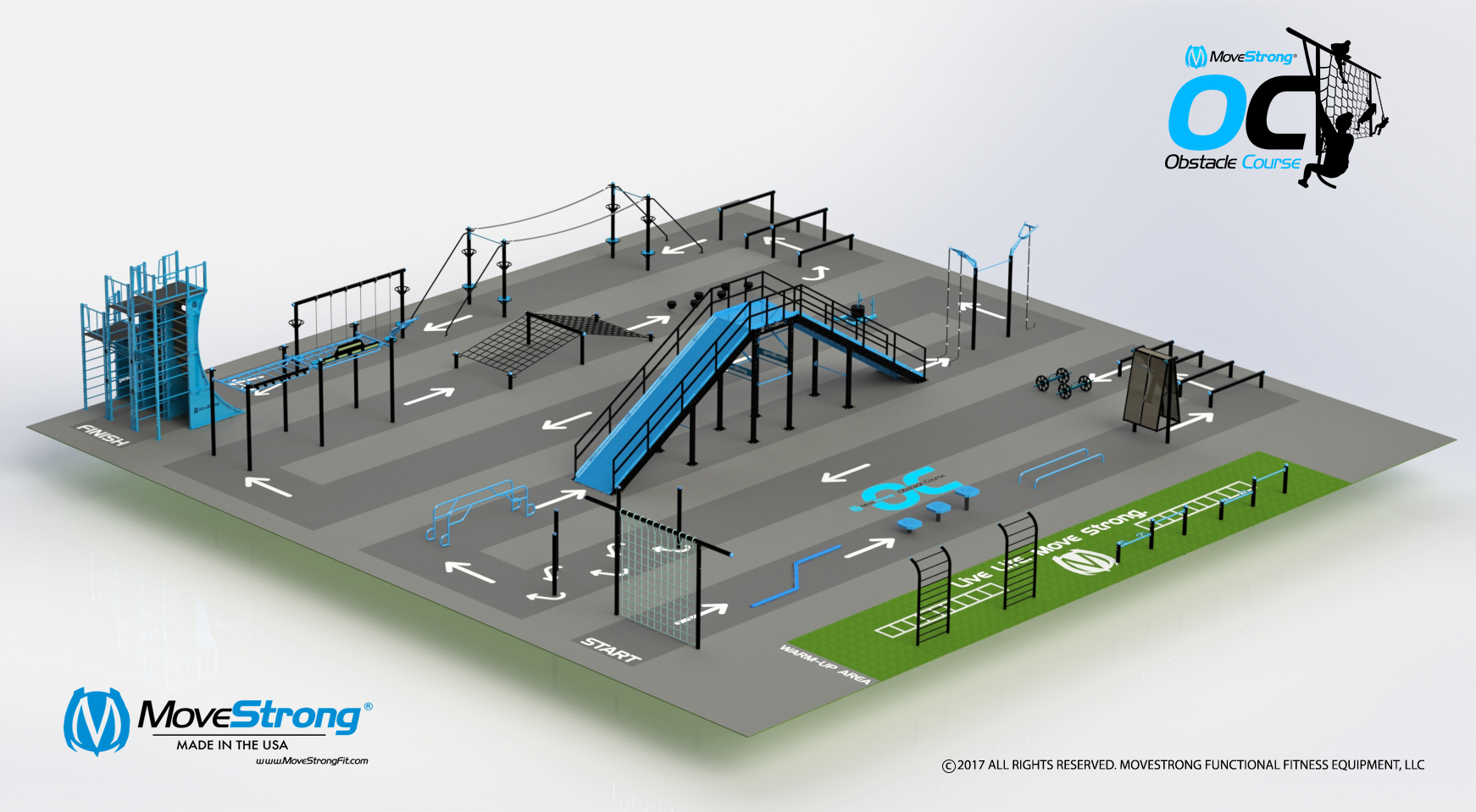Scale Obstacle Course In Size, Shape, and Specific to Desired Training Needs For Users