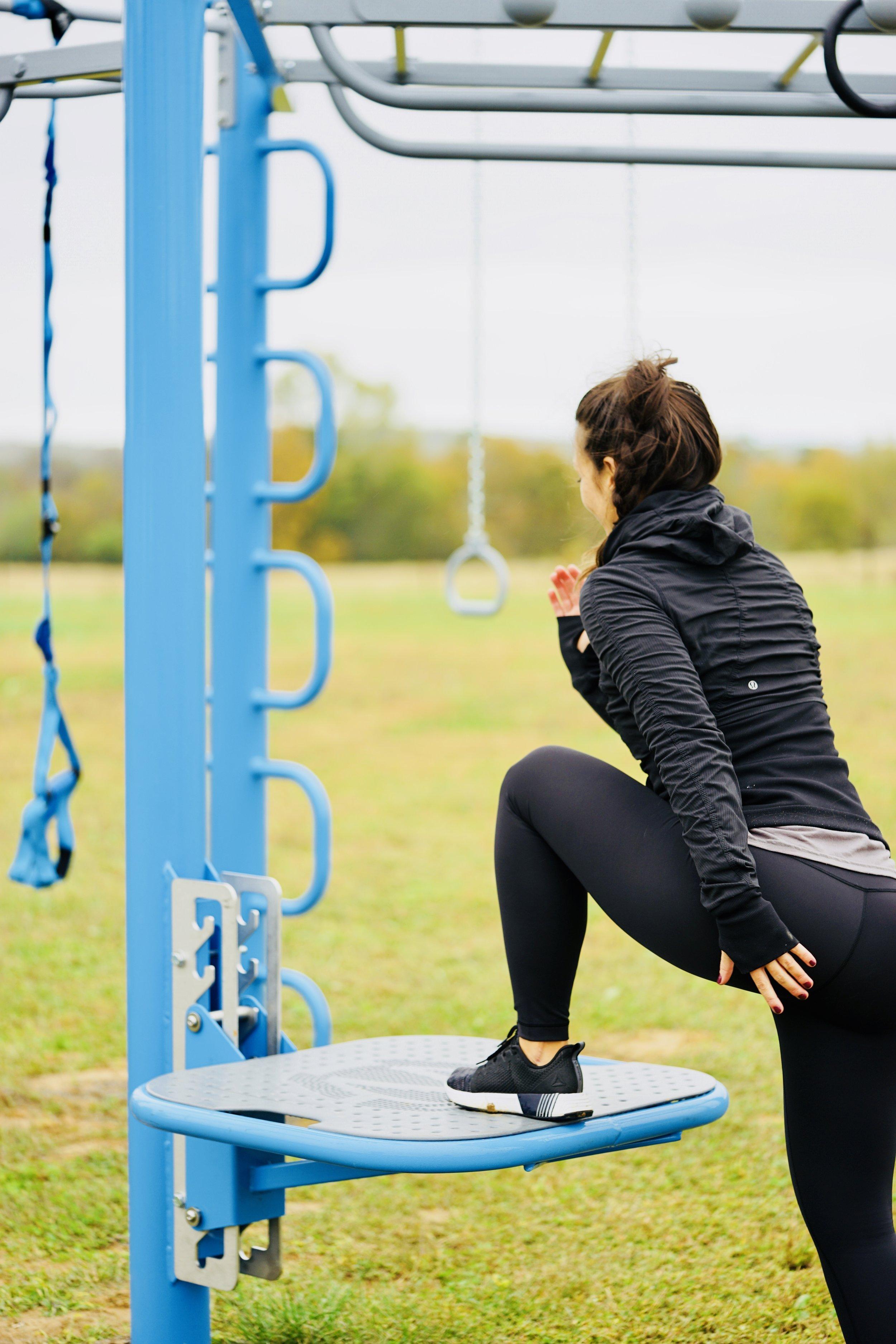 Adjustable Step Up Outdoor Fitness Equipment